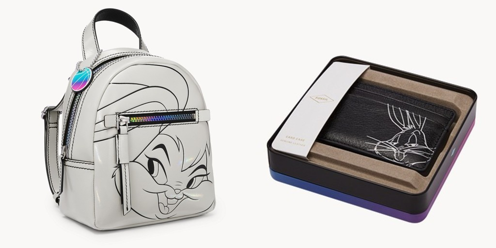 fossil space jam lola magen mini backpack and bugs card case