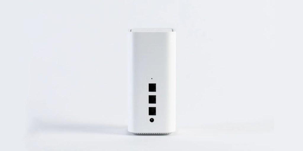 a single vilo mesh wifi router on a plain white background