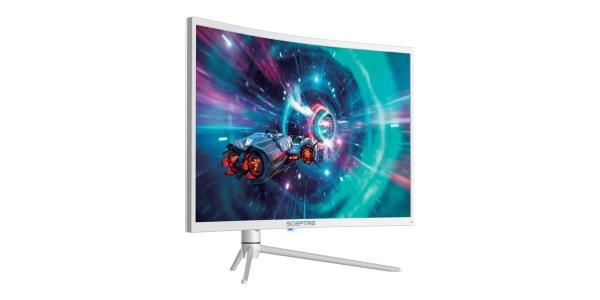 white monitor