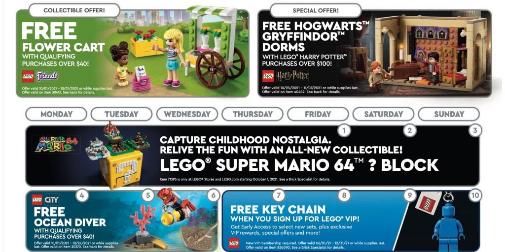 LEGO October freebie