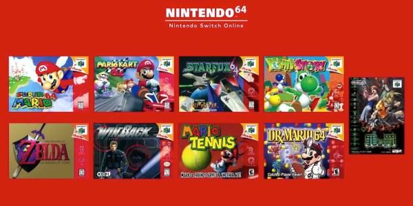Nintendo 64 Switch Online games
