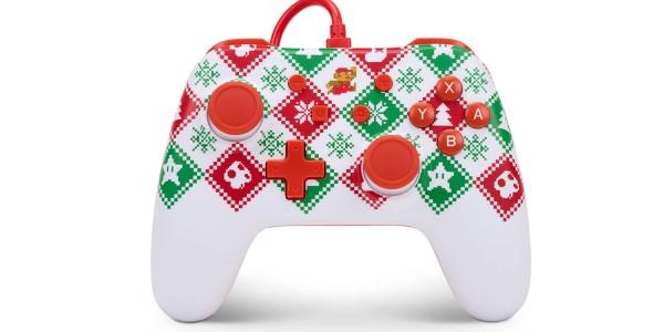 PowerA Mario Holiday Sweater Edition controller for Nintendo Switch