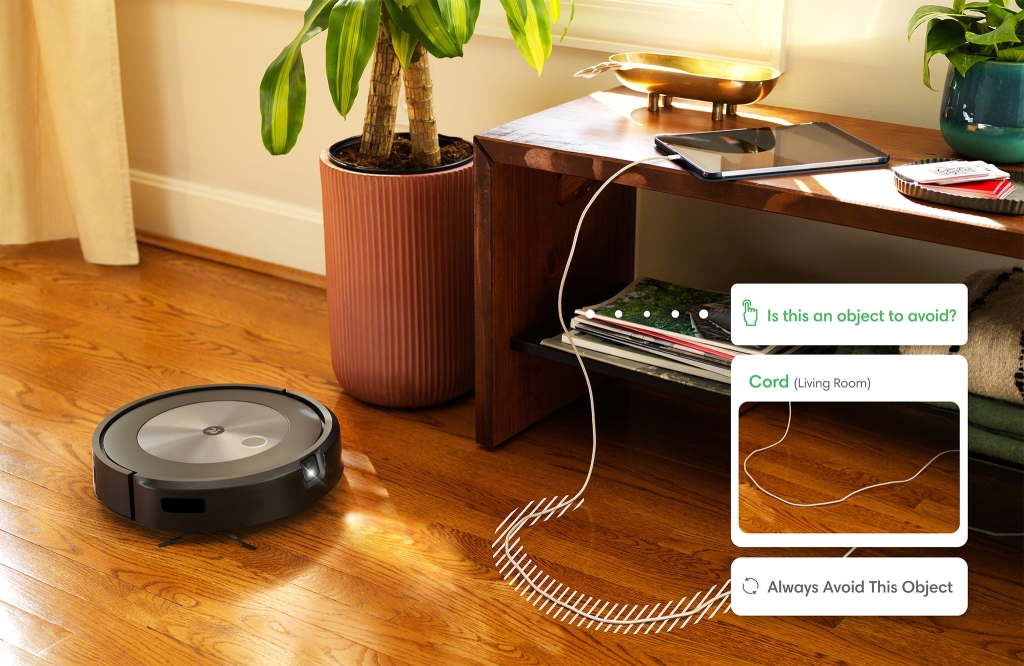 Roomba j7+_Object Detection_Cords_Alert