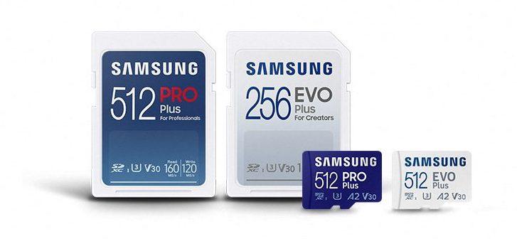 New Samsung microSD cards