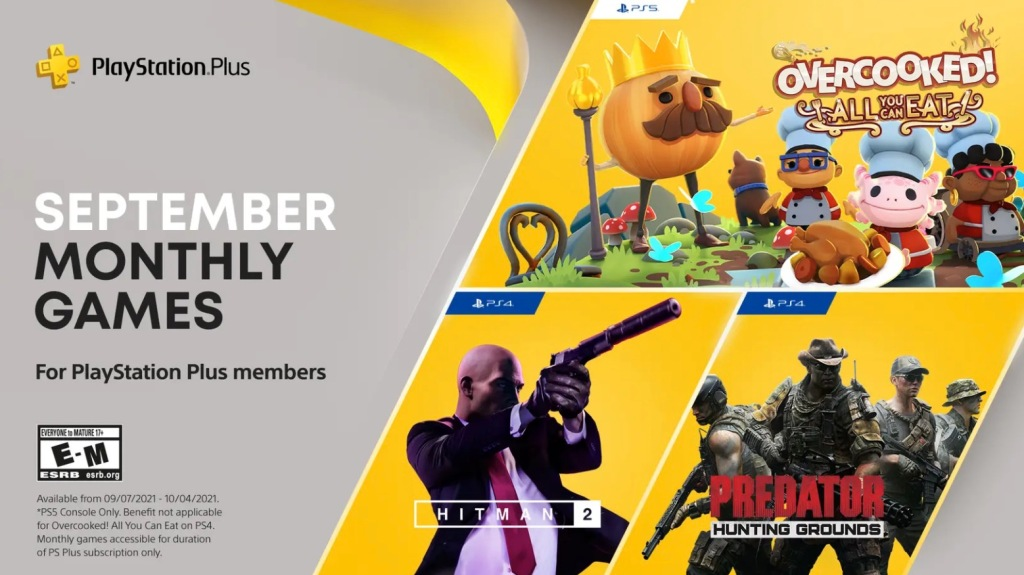 September PlayStation Plus free games