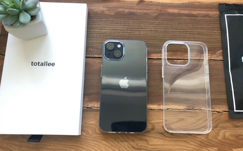Totally clear iPhone 13 case.