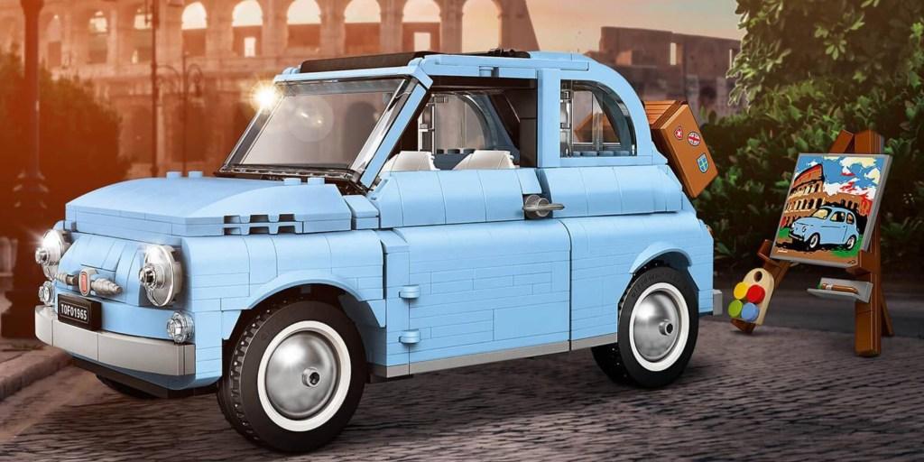 blue LEGO Fiat 500