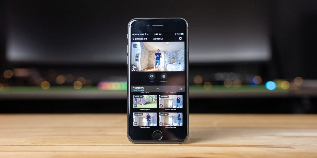 Using the Abode app with a subscription enables the event timeline and the ability to download and share clips.